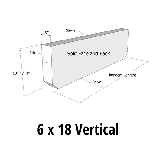 AGCP Curb Styles 6 x 18 Vertical